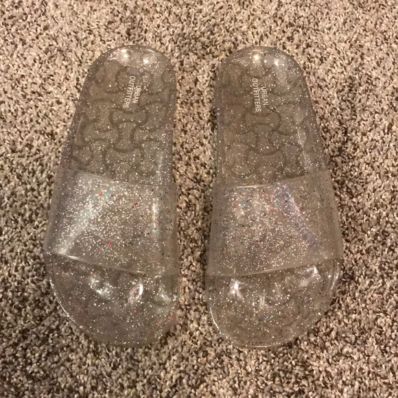 dbbdf1f7cef Urban Outfitters Shoes | Clear Sparkly Uo Sandals | Poshmark